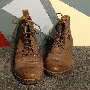 Lucky Brand Giorgia Tan Leather Boot - 7.5